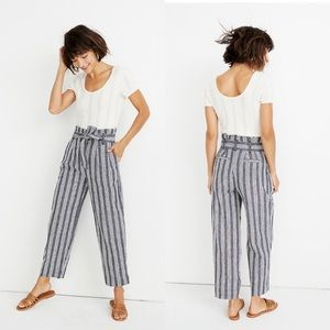 Madewell paperbag striped pants